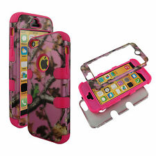 Pink Camo Trunk V Hybrid 3 in 1 Apple Iphone 5C Case Hard Cover Faceplate