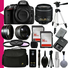 Nikon D5300 Professional Digital Camera 1522 + 30 PC Accessory Bundle Kit