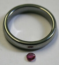 NATURAL RUBY GEMSTONE 3MM ROUND CUT FACETED 0.25CT LOOSE GEM MINERAL RU48C