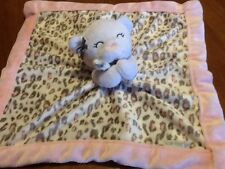 Teddy Bear Security Blanket Baby Lovey Pink White Gray Leopard Print Carters