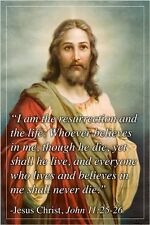 """i am the resurrection and the life"" JESUS CHRIST QUOTE POSTER 24X36 gem"