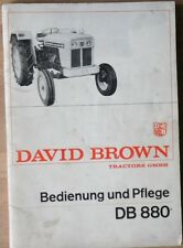 David Brown Schlepper DB 880 Bedienung und Pflege