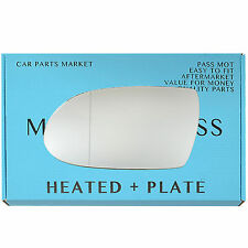 For MERCEDES SLK R171 2004-08 Wide Angle Heated +BP Left Side Wing Mirror Glass