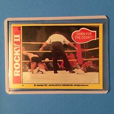 "1979 Topps Rocky II Card #84  ""Down For The Count""  NM-MT+"