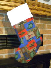 DINOSAUR, DINOS HANDMADE CHRISTMAS STOCKING * FREE SHIP