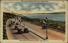 USA Postcard NEW YORK Hudson Cars George Washington Brigde Auto ca. 1940/50