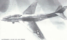 McDonnell XF-88 USAF Twin Jet Fighter  Black & White  Postcard 5113