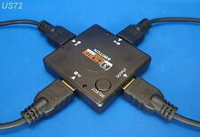 HDMI SWITCHER Y ADAPTER 3 WAY SPLITTER VIDEO T HUB 3-IN 1-OUT SWITCH