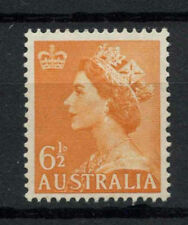 Australia 1953-1956 SG#265b, 6.5d Orange QEII No Wmk MNH #A76282