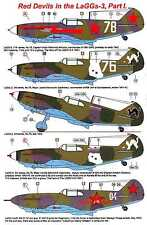 AML Models Decals 1/72 LAVOCHKIN LaGG-3 Russian Red Devils Part 1 w/Resin Set