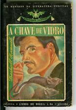 A CHAVE DE VIDRO by Dashiell Hammett, rare Portugese crime noir pulp vintage pb