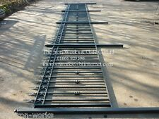 # BUCKINGHAM WROUGHT IRON METAL 3ft x 6ft FENCING RAILING PANELS MADE TO ORDER