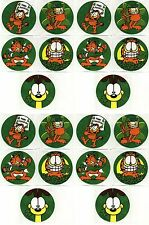 GARFIELD & Odie St Patrick's Day 20 Large Stickers!