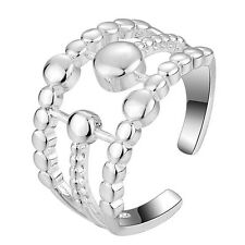 925 Silver Plt Seeing Spots Ring  / Thumb Ring Fully Adjustable ladies gifts