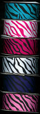Zebra grosgrain ribbon 1-1/2 inch 14 yards 2 yards 7 colors or you choose.