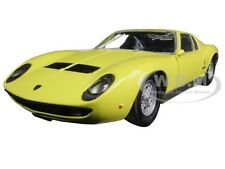 LAMBORGHINI MIURA P 400 S YELLOW 1/24 DIECAST MODEL CAR BY MOTORMAX 73368