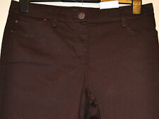 LADIES M&S COLLECTION 5 POCKET JEGGINGS WITH STRETCH SIZE 8 MEDIUM BT CHOC BNWT