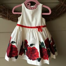 Janie & Jack FOREVER ROSE Baby 6-12 months Valentines Boutique Dress