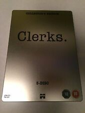 Clerks (DVD, 2008, 3-Disc Set) steelbook, collectors edition, region 2 uk dvd
