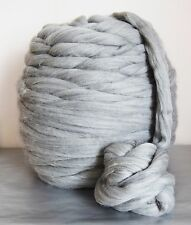 Super chunky 100% merino wool yarn giant wool natural grey arm knitting 1kg