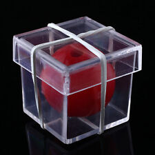 Funny Ball Through Clear Box Illusion Magic ConJuring Magician Trick Game Tool A