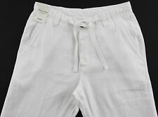Men's MURANO White LINEN Drawstring Pants 30x32 30 32 NEW NWT S55PM730 Wow!