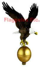 New 27 inch Natural Painted Eagle Flagpole Finial Flag Pole Topper Made In USA