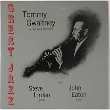 TOMMY GWALTNEY w/ STEVE JORDAN + JOHN EATON: Greet Jazz SIGNED Vinyl LP
