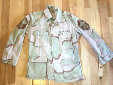 US Military ISSUE Desert Camouflage Camo BDU Combat Coat Shirt SMALL Reg Patches