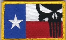 Texas Punisher Flag patch full hook backing full color - NOT FROM CHINA!!
