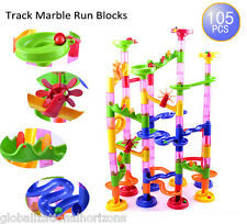 105pcs Marble Race Run DIY Construction Kids Toy Game Maze Buliding Block Tower