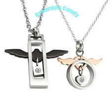 Korean Fashion FLYING WINGS LOVER Couple Necklace SET Made in Korea Fine SS