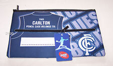 Carlton Blues AFL Team Song Printed Neoprene Zip Up Pencil Case New
