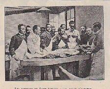 1901  --  LES INTERBES DE L HOPITAL SAINT ANTOINE A LA SALLE D AUTOPSIE  3A062