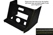 YELLOW STITCHING CENTRE CONSOLE RADIO SURROUND LEATHER COVER FITS MG MGB STYLE 2