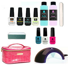 New Red Carpet Manicure 3 Color LED Gel Nail Polish Kit Set + Travel Bag