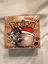 Pokemon 1st Edition Fossil FACTORY SEALED Booster Box 36 Packs- USA version Rare