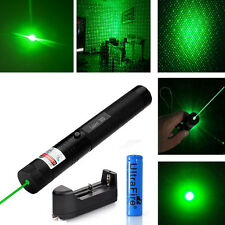 2in1 Military 5mw Green Laser Pointer Pen Visible Beam +Battery +Charger