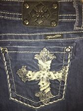 Buckle MISS ME JP5445B3 Embellished Cross Low Rise Boot Cut Jeans 30 x 32