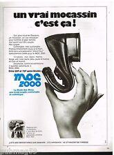 Publicité Advertising 1973 Les Chaussures mocassins Moc 2000