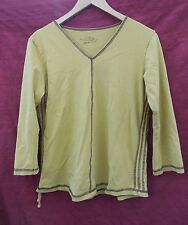 ADVENTURA large yellow cotton long-sleeved BLOUSE Top