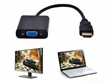 1080P HDMI Male to VGA Female DB15 Adapter Video Cable for HDTV Chipset Built-in