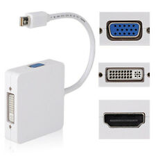 3 in1 Thunderbolt DP Display port to HDMI DVI VGA Adapter Cable for  MacBook UK