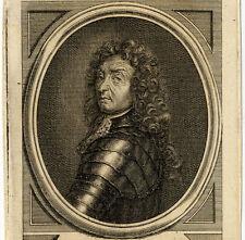 Portrait de Frédéric-Armand de Schomberg Gravure originale 18e siècle