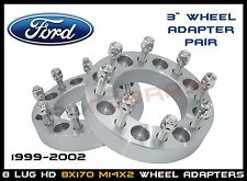 """8x170 3"""" Ford 1999-2002 Wheel Spacers Adapter Pair 