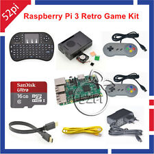 16GB Retro Game Console Kit with Raspberry Pi 3 Model B SNES Controllers