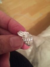 9ct white gold diamond ring.