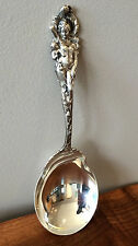"OLD 1899 Love Disarmed Reed & Barton Sterling 8 1/4"" Berry / Salad Serving Spoon"