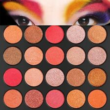 DE'LANCI 35 Colors Warm Nude Matte Shimmer Eyeshadow Palette Makeup Cosmetic