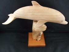 Superb Hand Carved Dolphin Sculpture.